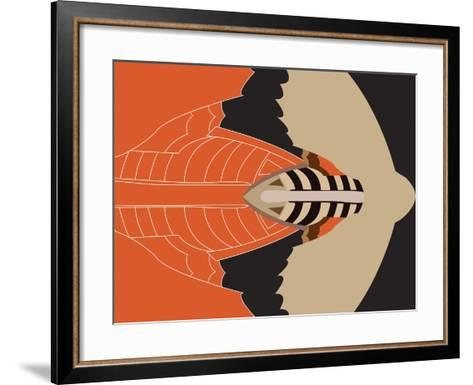 Mechanical Bat-Belen Mena-Framed Art Print