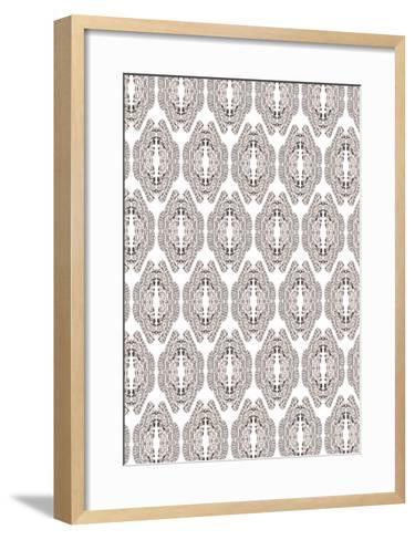 White & Graphite-Belen Mena-Framed Art Print