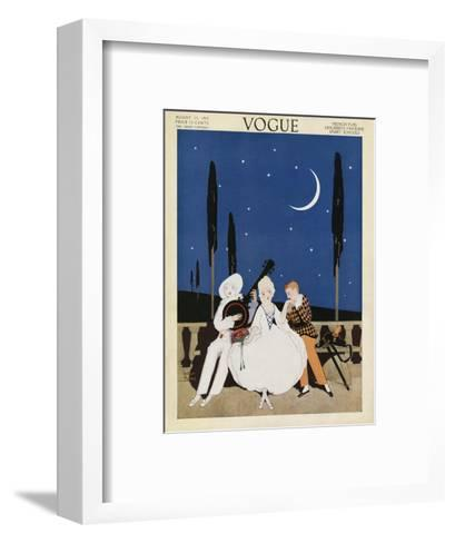 Vogue Cover - August 1913-Arthur Finley-Framed Art Print