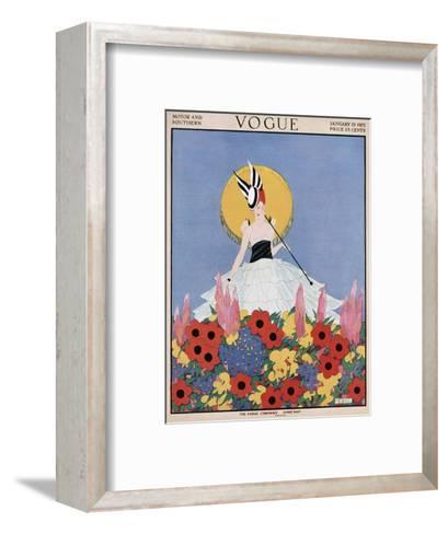 Vogue Cover - January 1915-Margaret B. Bull-Framed Art Print