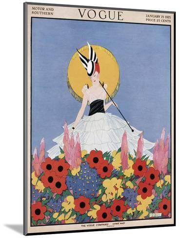 Vogue Cover - January 1915-Margaret B. Bull-Mounted Premium Giclee Print