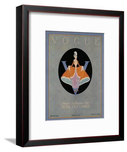 Vogue Cover - April 1918-Dorothy Edinger-Framed Art Print