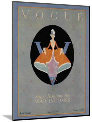 Vogue Cover - April 1918-Dorothy Edinger-Mounted Premium Giclee Print