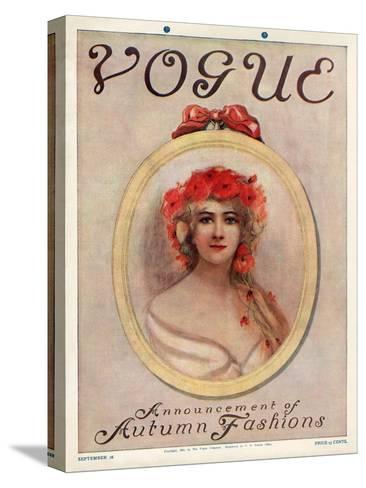 Vogue Cover - September 1909--Stretched Canvas Print