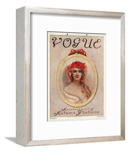 Vogue Cover - September 1909--Framed Art Print