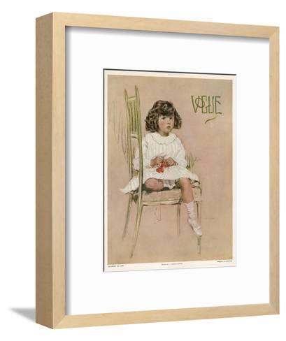 Vogue Cover - August 1910-F. Graham Cootes-Framed Art Print