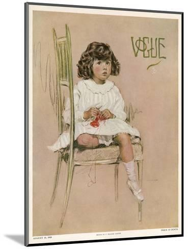 Vogue Cover - August 1910-F. Graham Cootes-Mounted Premium Giclee Print