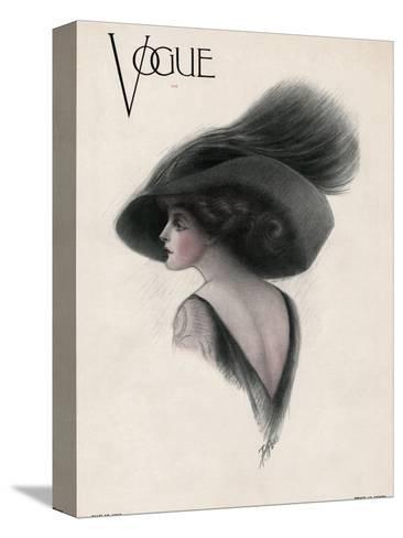 Vogue Cover - May 1910-F. Rose-Stretched Canvas Print