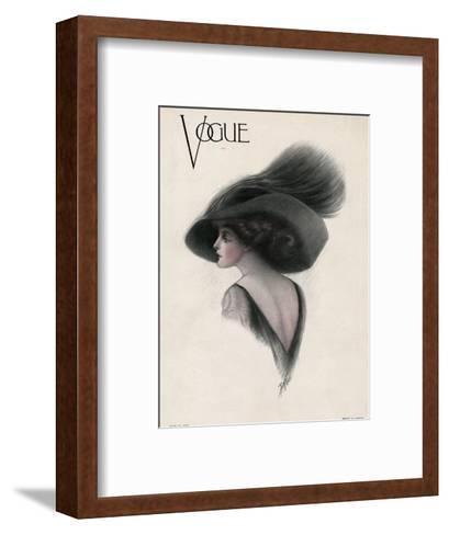 Vogue Cover - May 1910-F. Rose-Framed Art Print