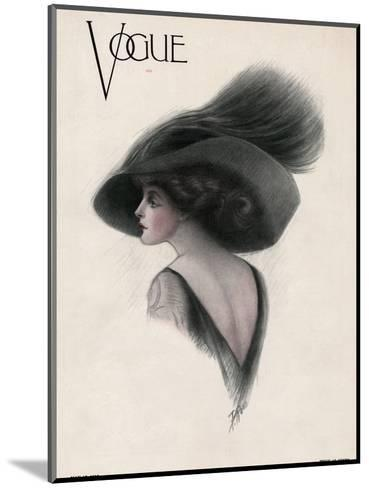 Vogue Cover - May 1910-F. Rose-Mounted Premium Giclee Print