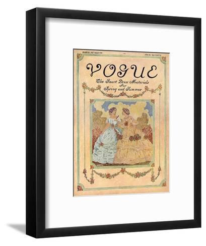 Vogue Cover - May 1910-David Peirson-Framed Art Print