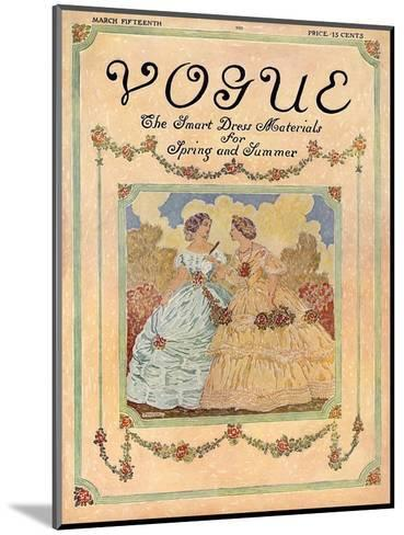 Vogue Cover - May 1910-David Peirson-Mounted Premium Giclee Print