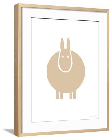 Tan Donkey-Avalisa-Framed Art Print