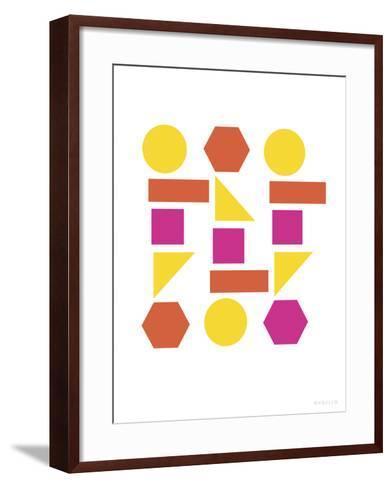 Warm Shapes-Avalisa-Framed Art Print