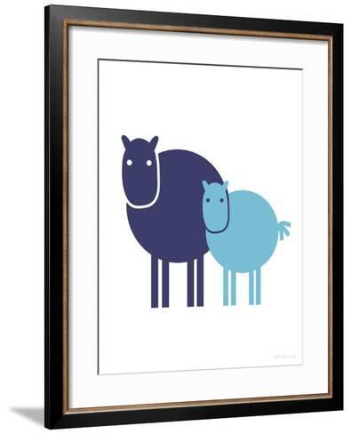 Blue Baby Horse-Avalisa-Framed Art Print