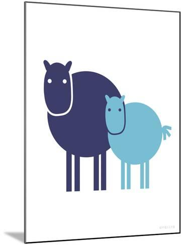 Blue Baby Horse-Avalisa-Mounted Art Print
