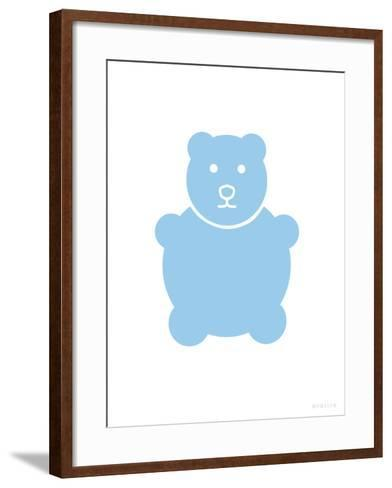 Blue Bear-Avalisa-Framed Art Print