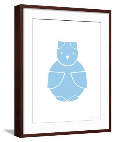Blue Owl-Avalisa-Framed Art Print