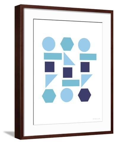 Cool Shapes-Avalisa-Framed Art Print