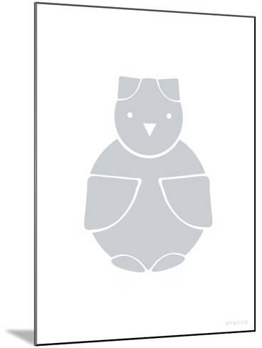 Gray Owl-Avalisa-Mounted Art Print