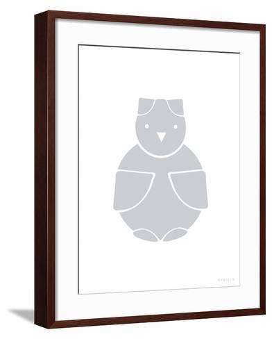 Gray Owl-Avalisa-Framed Art Print