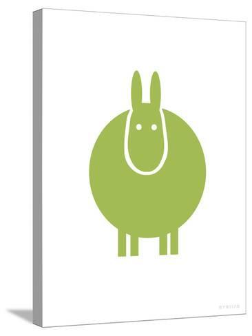 Green Donkey-Avalisa-Stretched Canvas Print