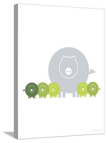 Lime Baby Pigs-Avalisa-Stretched Canvas Print
