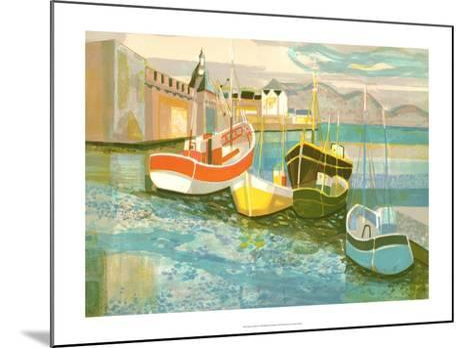 Boats in Harbor II-George Lambert-Mounted Art Print