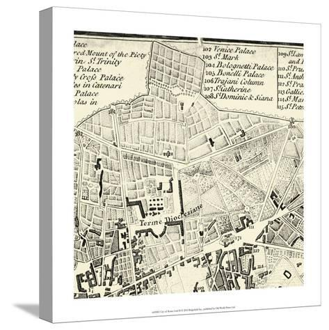 City of Rome Grid II--Stretched Canvas Print