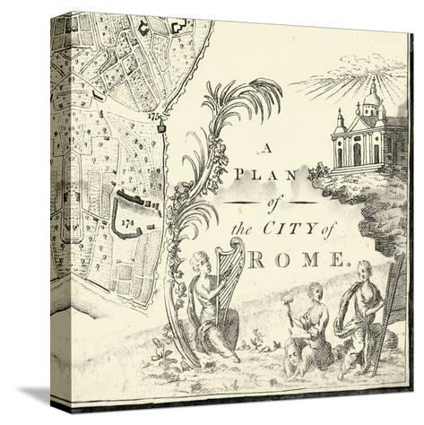 City of Rome Grid IX--Stretched Canvas Print
