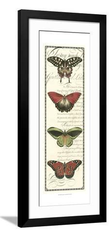 Butterfly Prose Panel I--Framed Art Print