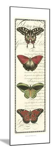 Butterfly Prose Panel I--Mounted Art Print