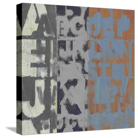 Alphabet Overlay I--Stretched Canvas Print