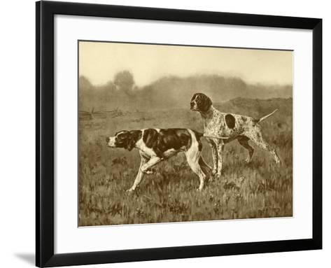A Double Point-J^M^ Tracey-Framed Art Print
