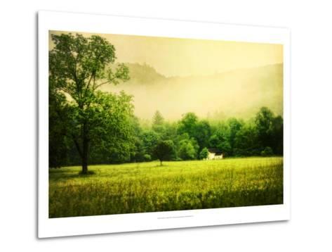Farmhouse on Foggy Morn'-Danny Head-Metal Print