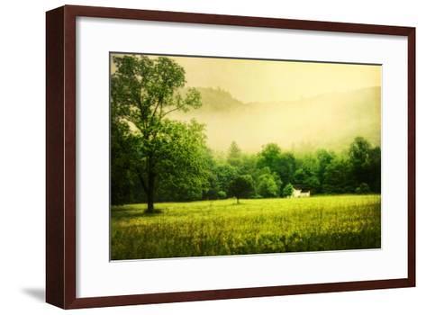 Farmhouse on Foggy Morn'-Danny Head-Framed Art Print