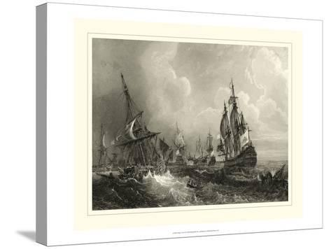 Ships at Sea II--Stretched Canvas Print