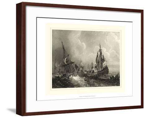 Ships at Sea II--Framed Art Print