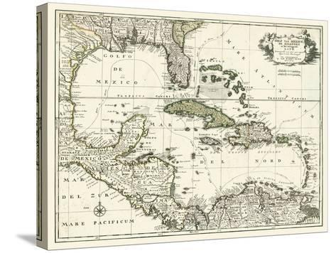 Map of the Gulf of Mexico--Stretched Canvas Print
