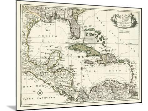 Map of the Gulf of Mexico--Mounted Art Print