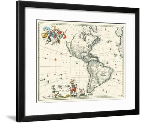 Map of America--Framed Art Print