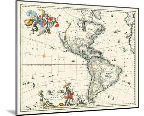 Map of America--Mounted Art Print