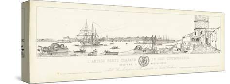 Antique Seaport III-Antonio Aquaroni-Stretched Canvas Print