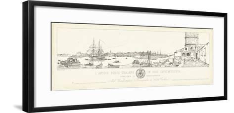 Antique Seaport III-Antonio Aquaroni-Framed Art Print