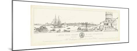 Antique Seaport III-Antonio Aquaroni-Mounted Art Print