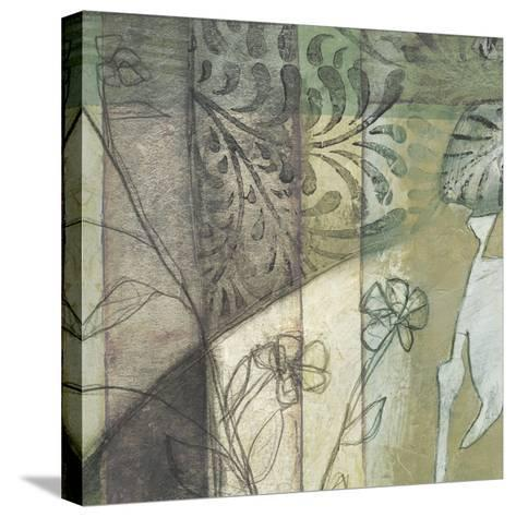 Non-Embld. Stained Glass Garden I-Jennifer Goldberger-Stretched Canvas Print