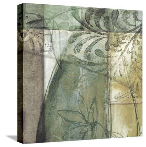 Non-Embld. Stained Glass Garden II-Jennifer Goldberger-Stretched Canvas Print