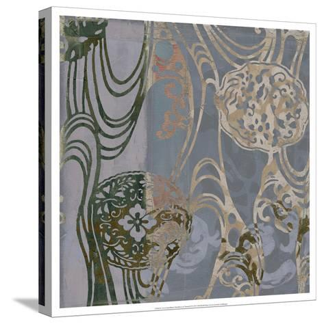 Non-Embld. Medallions & Damask II-Jennifer Goldberger-Stretched Canvas Print