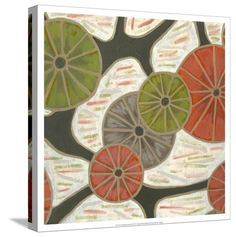 Morning Glories II-Karen Deans-Stretched Canvas Print