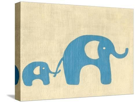 Best Friends - Elephants-Chariklia Zarris-Stretched Canvas Print